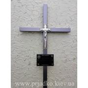 Крест на могилу, Крест сварной ритуальный с элементами ковки; фото
