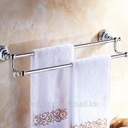 Держатель для полотенца Сrystal Double Row Chrome, Артикул 65023 фото