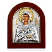 Икона Параскевы Серебряная Silver Axion Греция 110 х 130 мм на деревянной основе фото