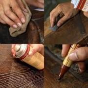 Снятие старого покрытия мебели, чистка. фото