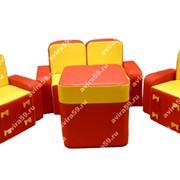 Комплект детской мягконабивной мебели Бантик(со столом) фото