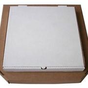 Коробка п/пиццу 400х400х50мм бел/кор,гофрокартон.
