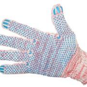 Перчатки хлопчатобумажные с полиэфирной нитью с полимерным покрытием фото