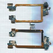 Разъем Micro USB для LG G2 D802 (плата с системным разъемом, аудио разъемом, микрофоном и шлейфом)