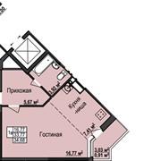 1-комнатная квартира в доме №5 жилого комплекса «Янтарный» в Ижевске фото