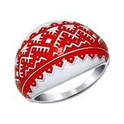 Кольцо из серебра с эмалью фото