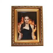 Пластиковая рамка фотоальт модель u 281-05 золото, 20х30 фото