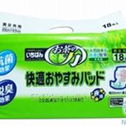 Вкладыш в подгузники и трусики Ichiban с экстрактом зелёного чая 18шт 32смх62см 4971633711174 фото