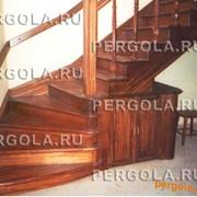 Лестница угловая фото
