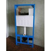 Монтажный блок (инсталляция) для подвесного унитаза с хромированной панелью двойного смыва