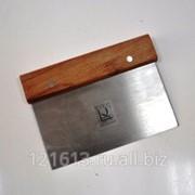 Скребок метал.с дерев.ручкой 7,5*15см Proff Chef Line LQ фото