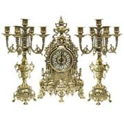 Часы каминные и 2 канделябра Барокко на 5 свечей фото