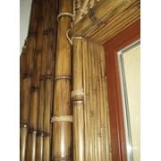 Отделка (обшивка) бамбуком фото