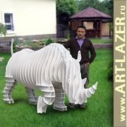 Носорог белый из ПВХ 2,5м фото