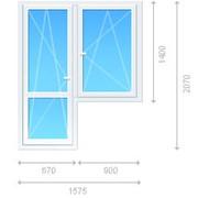 Блок комбинированный - окно распашное, балконная дверь фото