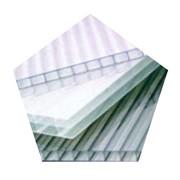 Сотовый поликарбонат 6мм прозрачный фото