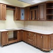 Кухня ЗОВ из натуральногоясеня угловая фото