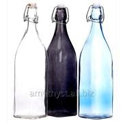Стеклянная квадратная бугельная бутылка Юджин 1 л фото