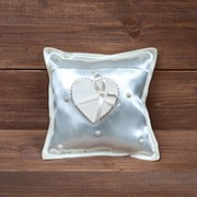 Свадебная подушечка для колец с коробочкой, арт. CR-102 фото
