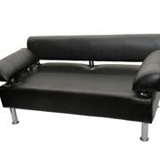 Офисный диван Фортуна черный фото