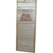 Дверь для бани резная ДР-12, на петлях, коробка липа фото
