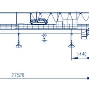 Кран мостовой магнитный грузоподъемностью 20/5 тонн фото