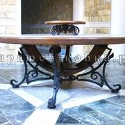 Кованый стол фото