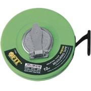 Рулетка фиброглассовая лента, зеленая 30 м.