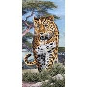 """Гобелен """"Леопард"""" 40х80см фото"""