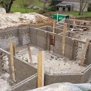 Строительство дома с использованием блоков стеновых бетонных фото
