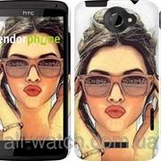 "Чехол на HTC One X+ Девушка_арт ""3005c-69"" фото"