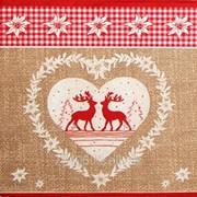 Салфетка для декупажа Два оленя в сердце фото