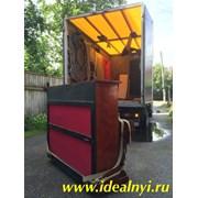 Перевозка пианино мебельным фургоном. Грузчики.
