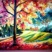 """""""Осень"""" Авторская работа по картине Л. Афремова. фото"""