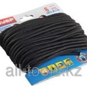 Шнур Зубр полиамидный, с сердечником, черный, d 6, 20м Код:50311-06-020 фото