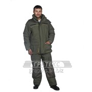 Костюм Канада зимний: куртка с п/комб., тк. Таслан, зелёный фото