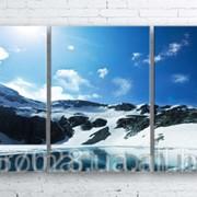 Модульна картина на полотні Гірське озеро код КМ100180-085 фото