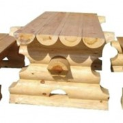Набор садовой мебели с прямоугольным столом фото