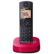 РадиотелефонDect Panasonic KX-TGC310UCR Black Red, код 121425 фото