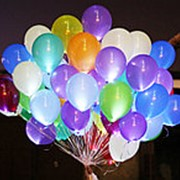 Светящиеся шары с гелием без рисунка 30 см фото