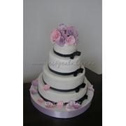 Торт Свадебный №0108 код товара: 1-0108 фото
