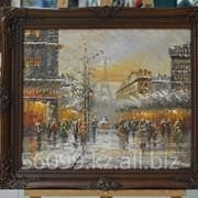 """Картина """"Парижские улочки"""" 51х61 фото"""