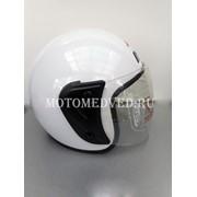 Шлем Jiekai, белый открытый, прозрачное стекло, размер S 55-56, Китай фото