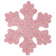 """Снежинка """"Облако"""", искристая, 20 см, розовая (Зимняя Сказка) фото"""