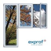 Балконный блок ПВХ Exprof 2100х2100 мм 2-ЛГ-ПП 3 стеклопакет фото