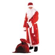 Дед Мороз мех красный фото