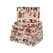 Коробка картонная цветная ККЦ №8 (5шт) бол.плоские(43/33/10см-35/23/4см) фото