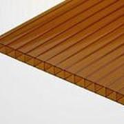 Сотовый поликарбонат 8 мм бронза Novattro 2,1x6 м (12,6 кв,м), Ограниченно годен, лист