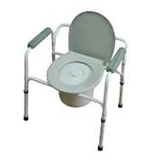 Кресла-туалеты стальные со спинкой (АМСВ92) фото
