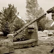 Оформление входа Входная зона Каменные ворота фото